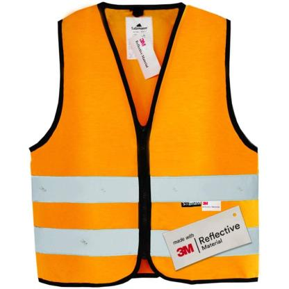 Salzmann 3M Children's High Visibility Safety Vest with Zipper   Made with 3M Reflective Material   Orange