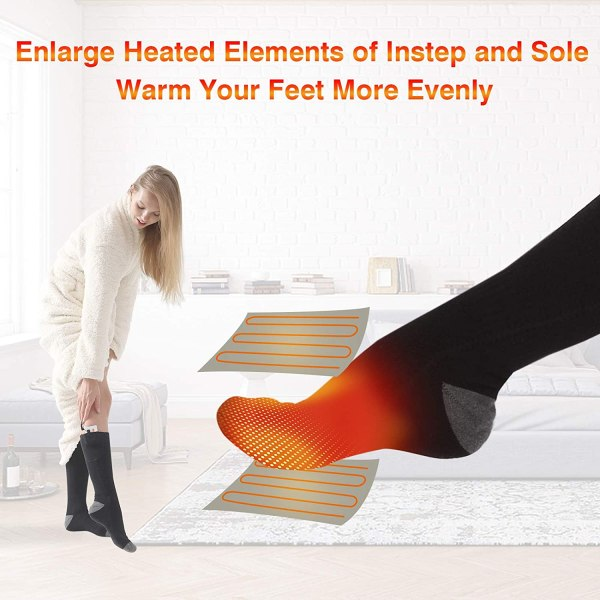 Heated Socks with 3000mah battery