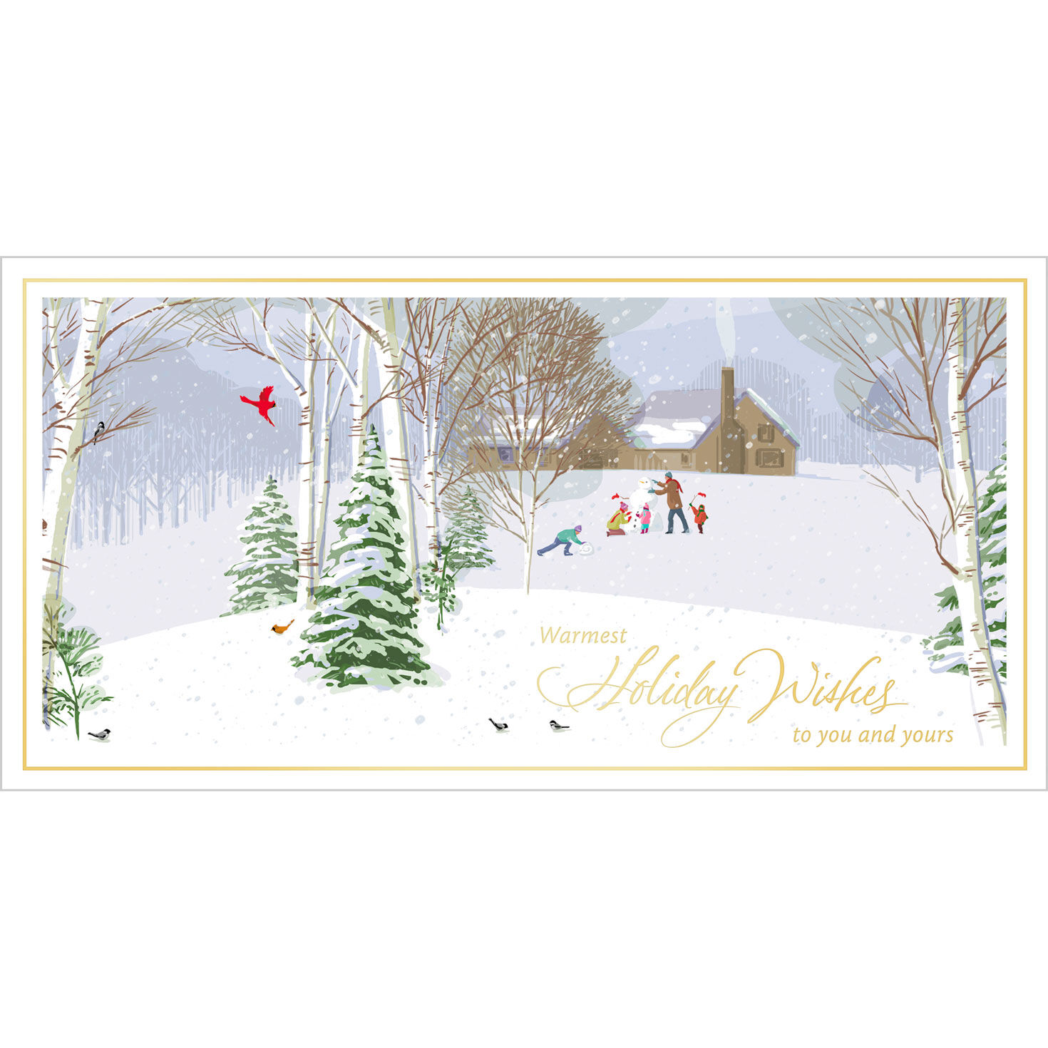 Winter Playtime Holiday Cards For Business Hallmark