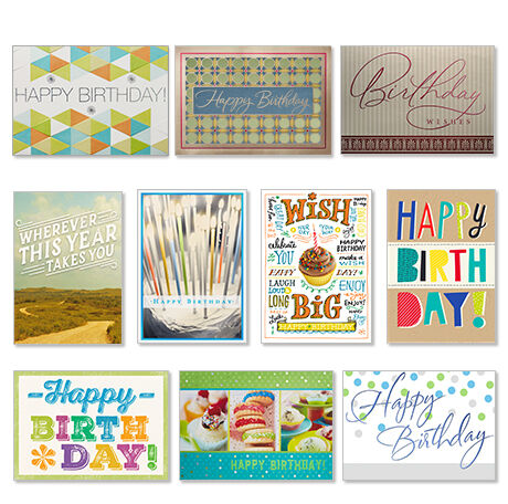 50 Assorted Birthday Cards Hallmark Business Connections