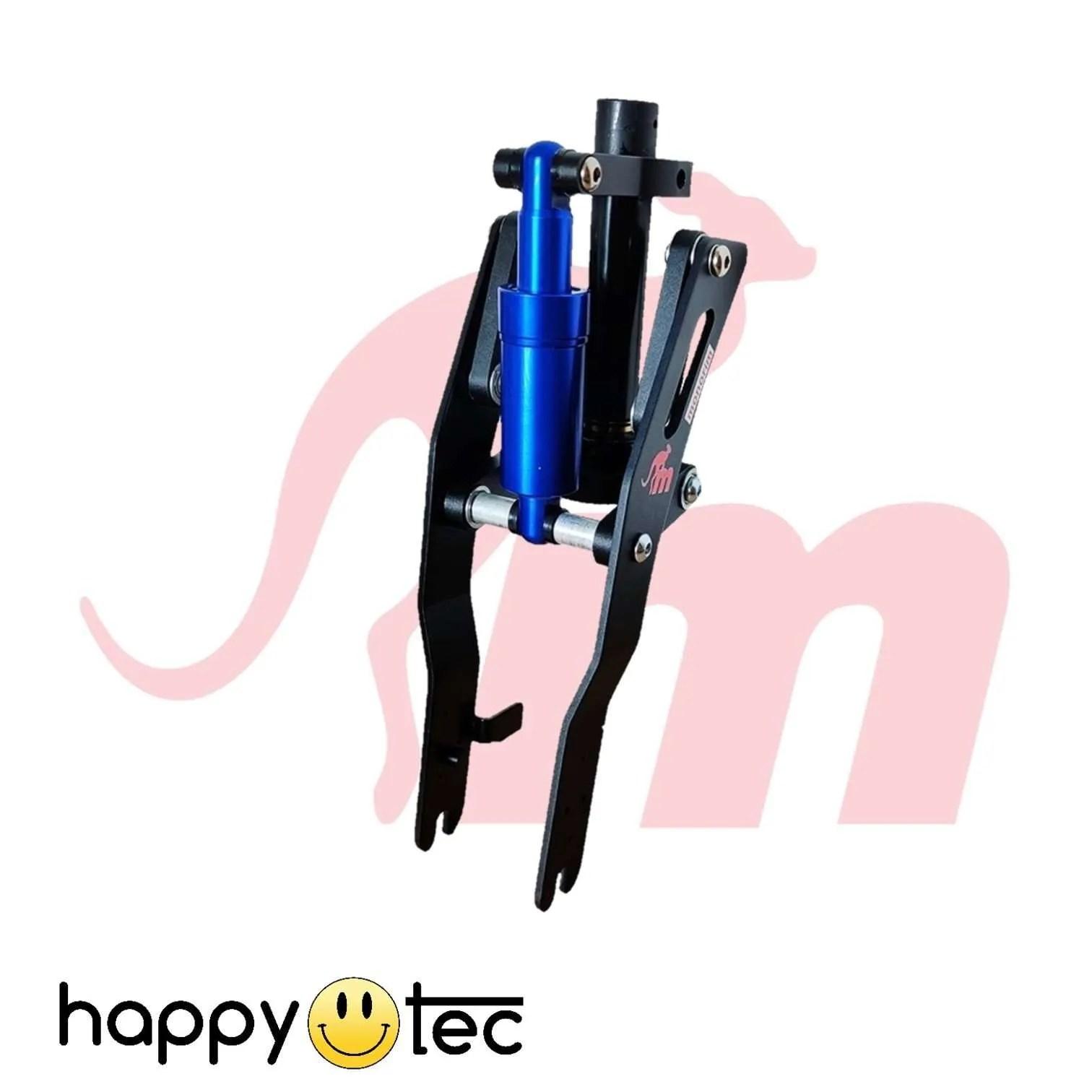 Ninebot-G30-Max-Ammortizzatore-anteriore-V2-by-Monorim-Nero-e-blu-1 ricambi accessori riparazione assistenza tecnica monopattini elettrici monorim