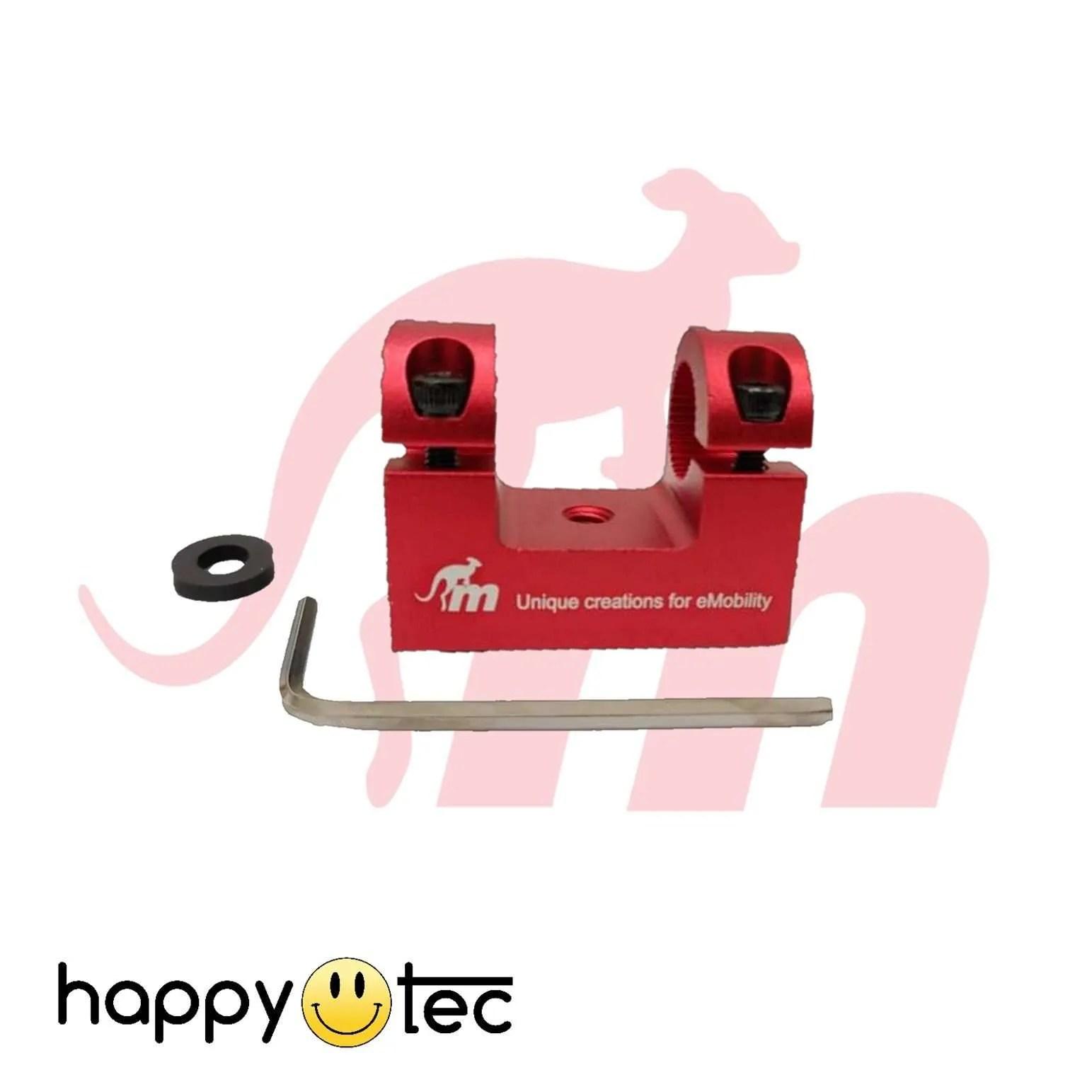 Ninebot-G30-Max-Supporto-parafango-per-ammortizzatori-by-Monorim-Rosso ricambi accessori riparazione assistenza tecnica monopattini elettrici monorim