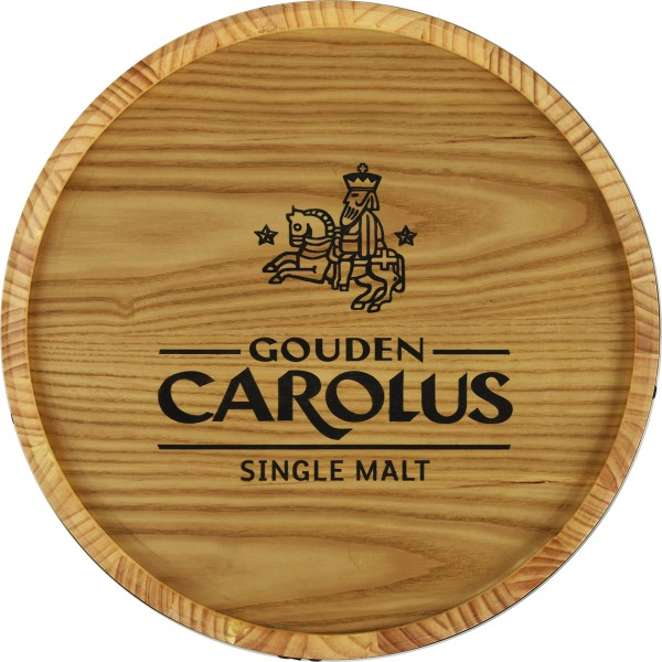 Tableau mural tonneau de whisky Gouden Carolus Single Malt