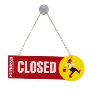 Open closed sign Maneblusser (closed)