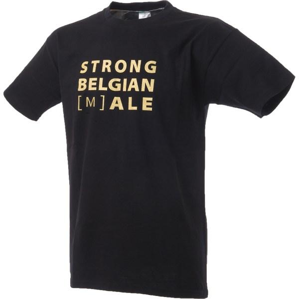 T-shirt Gouden Carolus met tekst Strong Belgian (M)ale