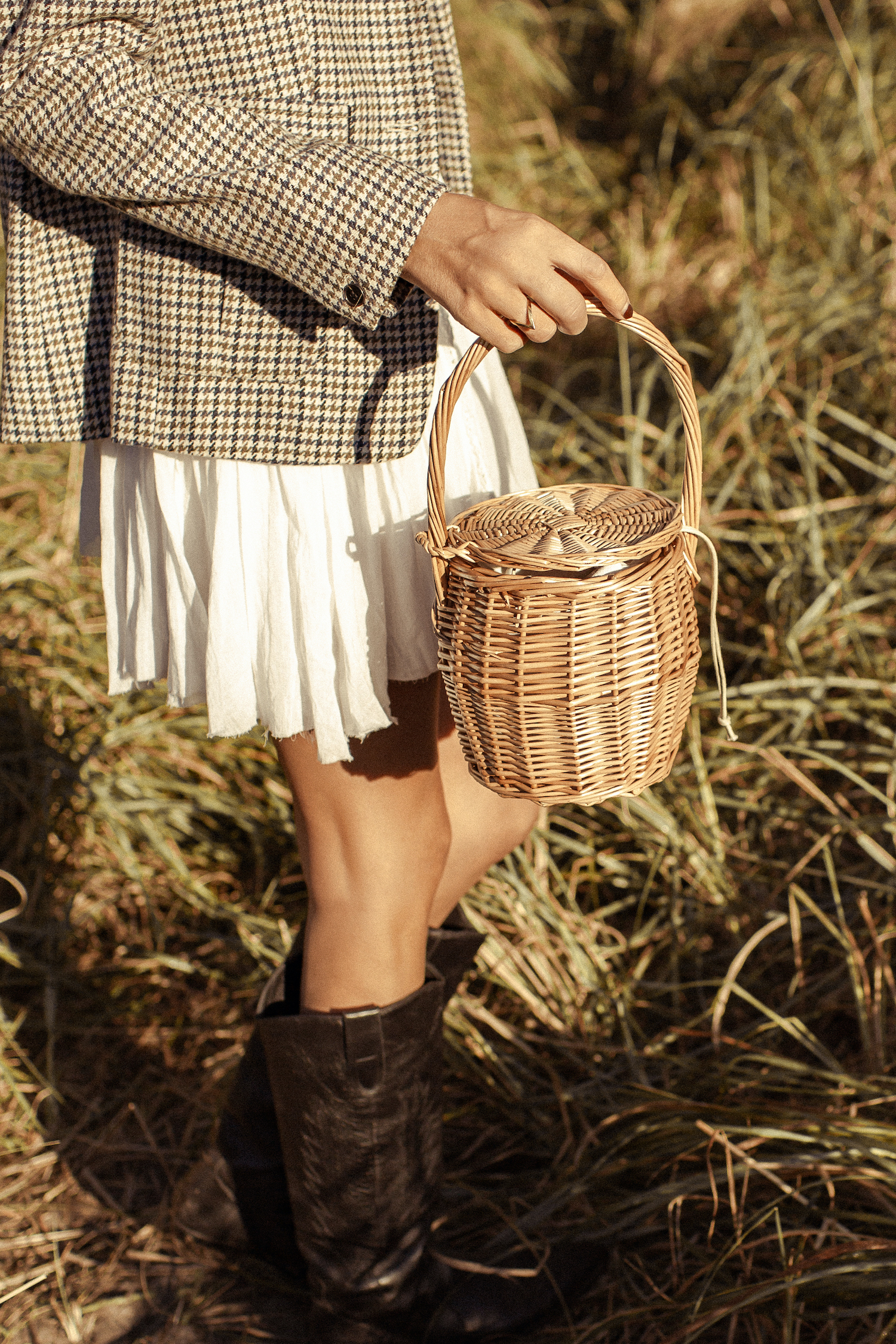 Mini Straw Basket Bag