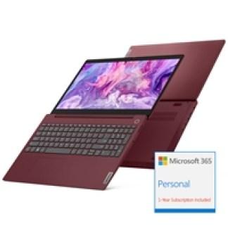 Lenovo IdeaPad 3 15ARE05 AMD Ryzen 3 4300U 4GB RAM 128GB SSD 15.6 inch Full HD Win 10 S Laptop Cherry Red - includes 1 Year Microsoft Office 365 Personal
