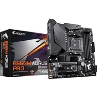 Gigabyte B550M AORUS PRO AMD Socket AM4 Micro ATX DisplayPort/HDMI M.2 USB 3.2 Type C Motherboard