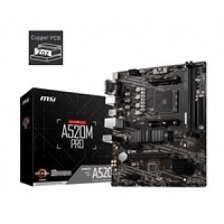 MSI A520M PRO AMD Socket AM4 Micro ATX VGA/HDMI/DIsplayPort USB 3.2 Gen1 M.2 Motherboard