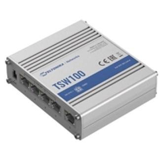 TELTONIKA TSW100 Industrial Unmanaged 4 Port POE+ Network Switch