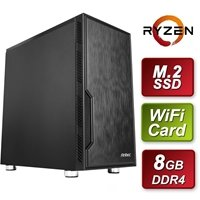 Antec AMD Ryzen 5 3350X PRO 3.6GHz Quad Core 8GB RAM 1TB M.2 Wi-Fi - Pre-Built System