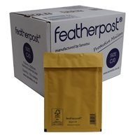 Featherpost Size C/0 Bubble Lined Mailers 170mm x 225mm Box of 100