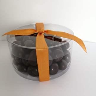 Uchuvas cubiertas con chocolate
