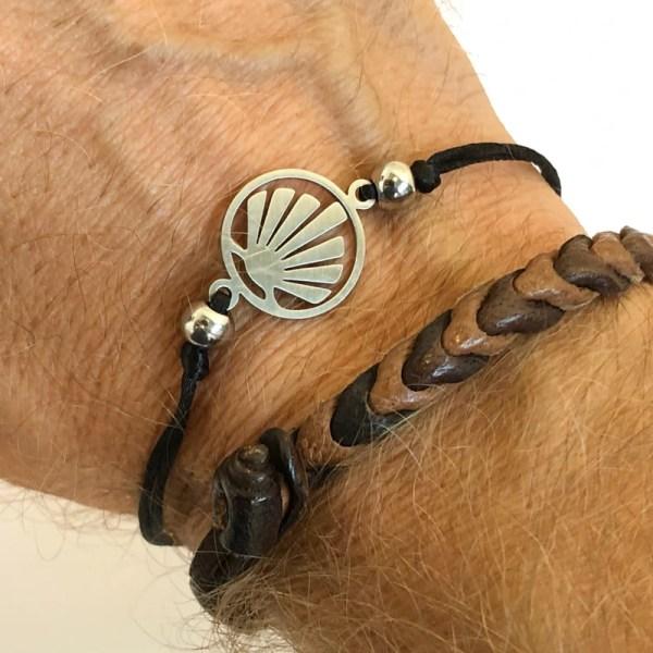 Armband mit Silbermuschel flach
