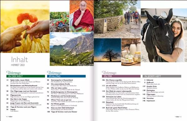 Inhaltsverzeichnis der Pilger Herbst 2021
