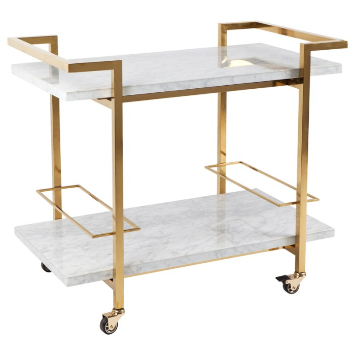 Franklin Drinks Trolley White Gold
