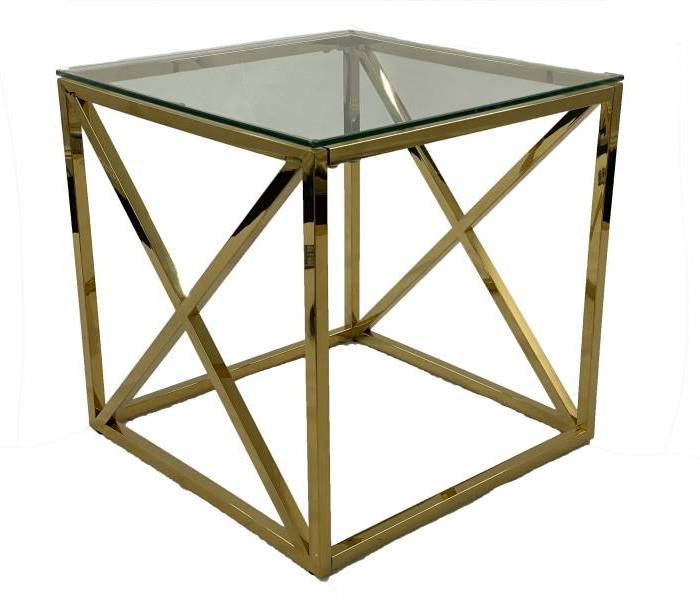 Clara Side Table Gold