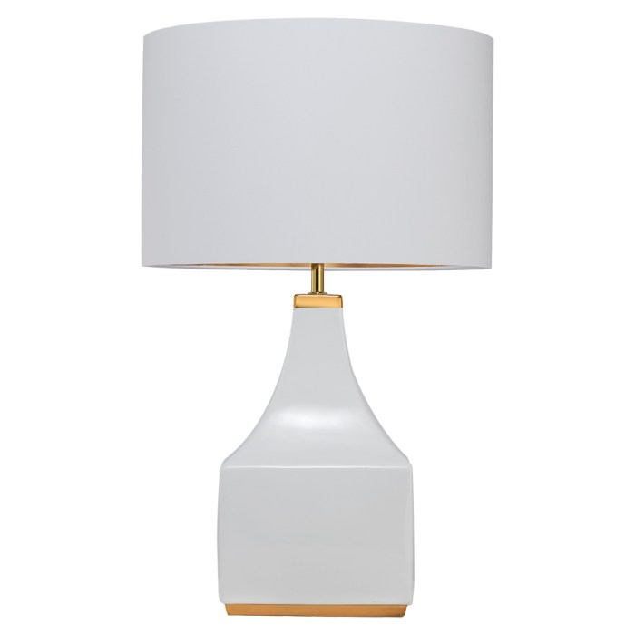 WALTER TABLE LAMP GLOSSY WHITE & SHINY GOLD
