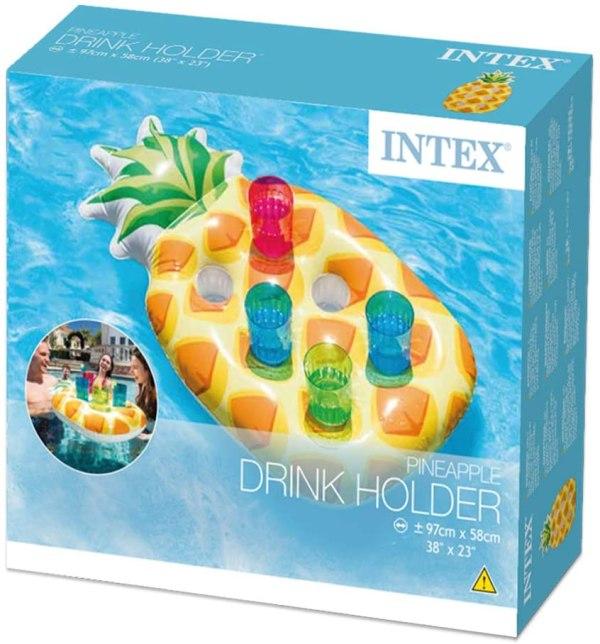 當日發貨 Intex 充氣 鳳梨水上 飲料 啤酒 杯架 戲水 泳圈 浮排