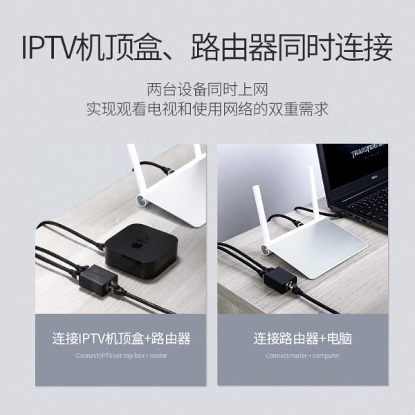 綠聯 Rj45 網路線 分線器 一條網路線傳送兩個 Port 訊號 一組