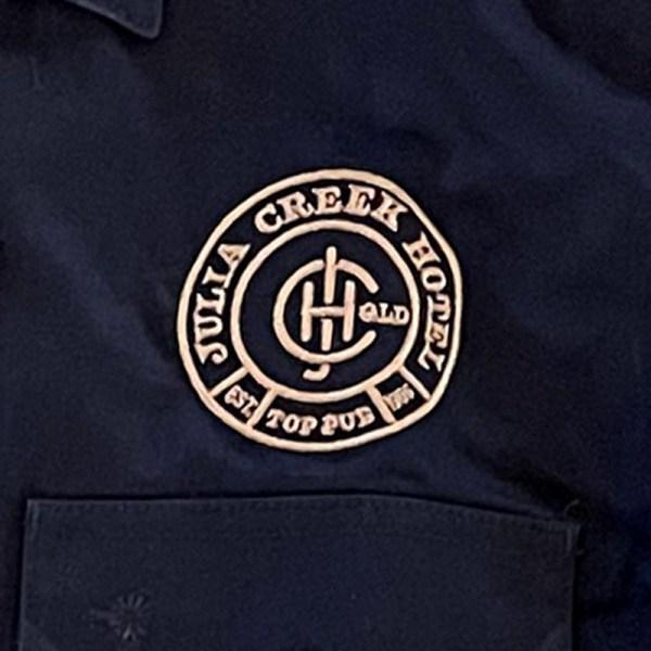 Navy Blue Mens Work Shirt detail