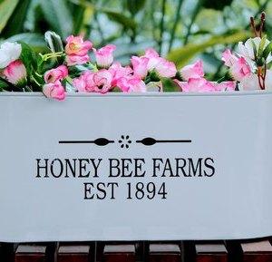 Honeybee Farms Galvanized Metal Planter