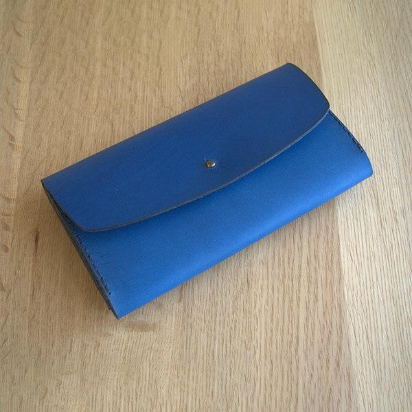 レザークラフト型紙_ダブルフラップの長財布