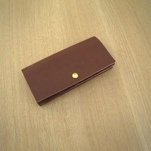 レザークラフト型紙_薄さにこだわった長財布