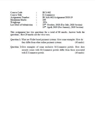 BCS-062 Solved Assignment For IGNOU BCA 6th Semester PDF
