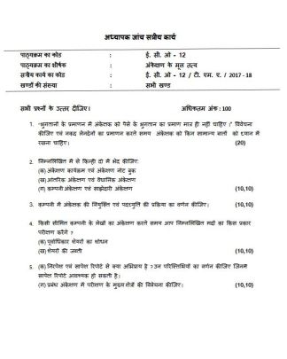 ECO-12 Solved Assignment Hindi Medium 2018 FREE IGNOU BCOM