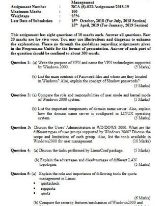 MCS-022 Solved Assignment IGNOU BCA MCA 2018-19 PDF Solution