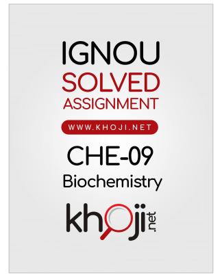 CHE-09 Solved Assignment 2020 Biochemistry English Medium