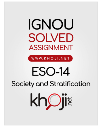 ESO-14 Solved Assignment English Medium IGNOU BDP BA