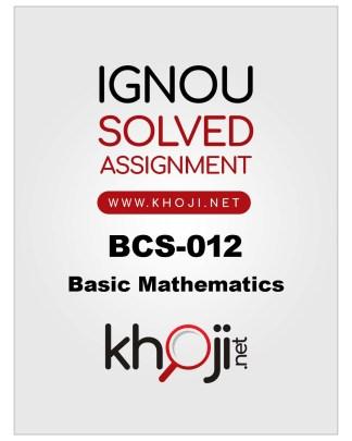 BCS-012 Solved Assignmet 2019-2020