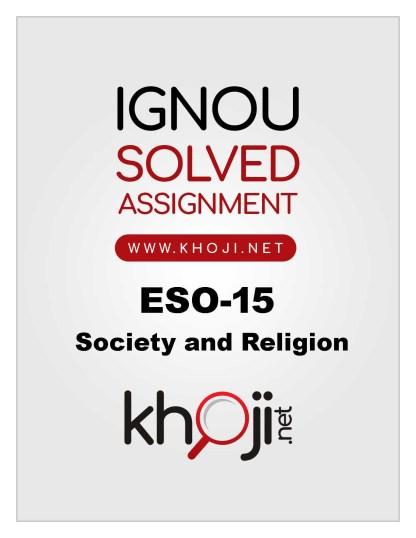 ESO-15 Solved Assignment 2019-20 English Medium