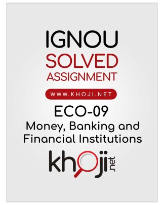 ECO-09 Solved Assignment in English Medium For IGNOU BCOM