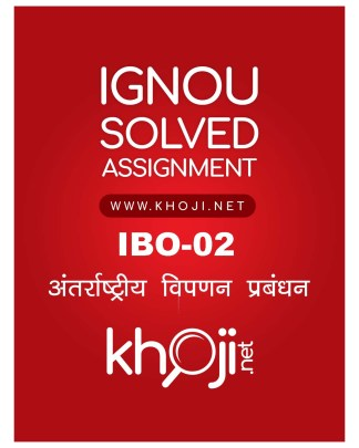 IBO-02 Solved Assignment For IGNOU MCOM Hindi Medium