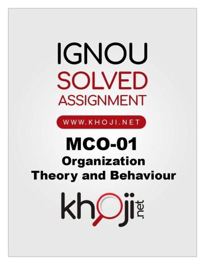 MCO-01 Solved Assignment For IGNOU MCOM English Medium