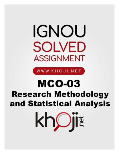 MCO-03 Solved Assignment For IGNOU MCOM English Medium