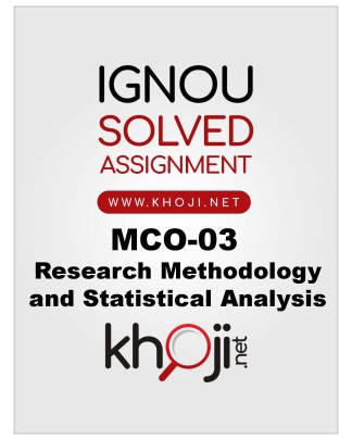 MCO-03 Solved Assignment For IGNOU MCOM English Medium