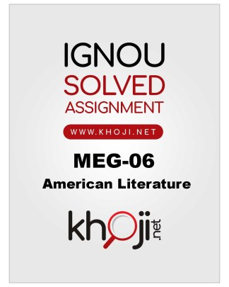 MEG-06 Solved Assignment 2019-20 For MA English