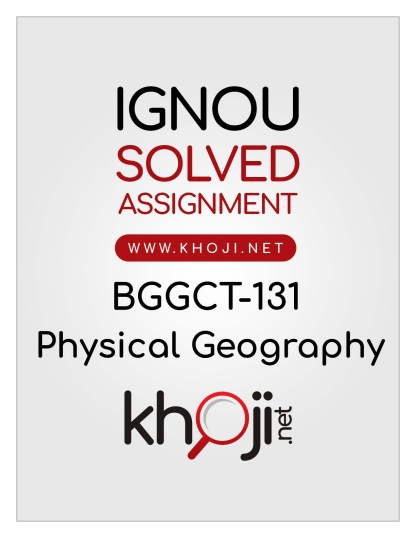 BGGCT-131 Solved Assignment English Medium IGNOU BSCG