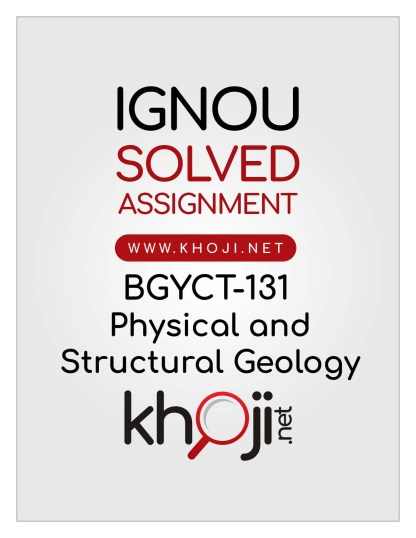 BGYCT-131 Solved Assignment English Medium IGNOU BSCG