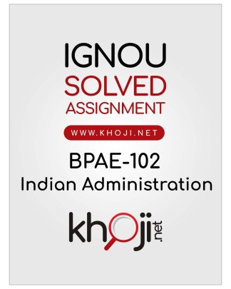 BPAE-102 Solved Assignment English Medium IGNOU BA BDP