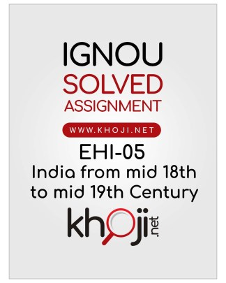 EHI-05 Solved Assignment English Medium For IGNOU BA BDP