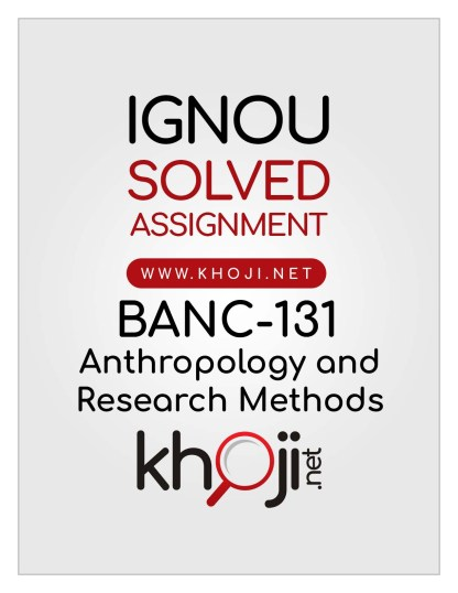 BANC-131 Solved Assignment English Medium For IGNOU BA CBCS BAG