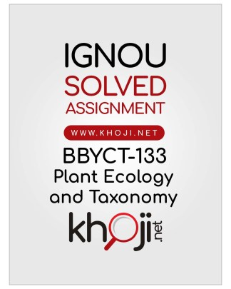 BBYCT-133 Solved Assignment English Medium IGNOU BSCG