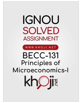 BECC-131 Solved Assignment English Medium IGNOU BAG CBCS