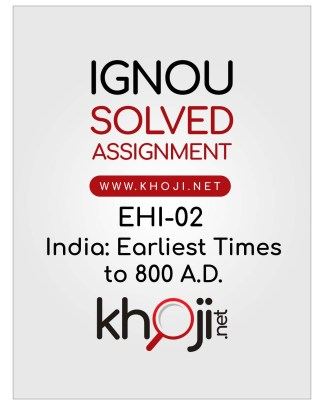 EHI-02 Solved Assignment English Medium For IGNOU BA BDP
