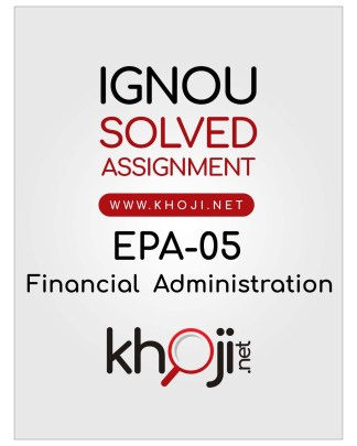 EPA-05 Solved Assignment Hindi Medium IGNOU BA BDP